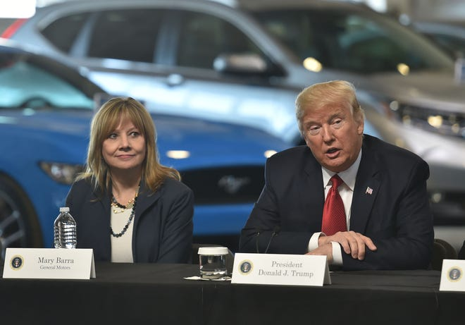 California newspaper urges GM boycott over initial support of Trump plan