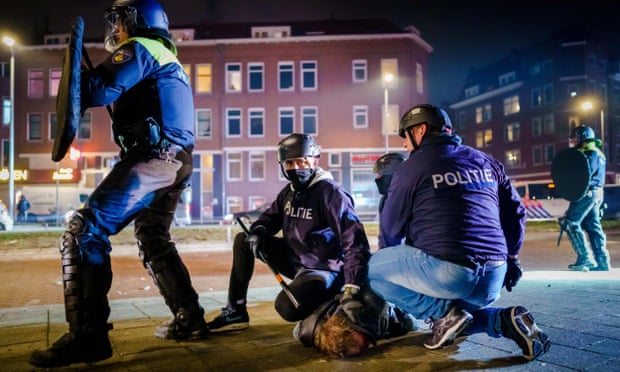 Netherlands shaken by third night of riots over Covid curfew