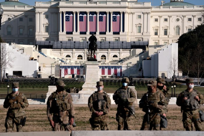 The latest on Biden's inauguration and security threats
