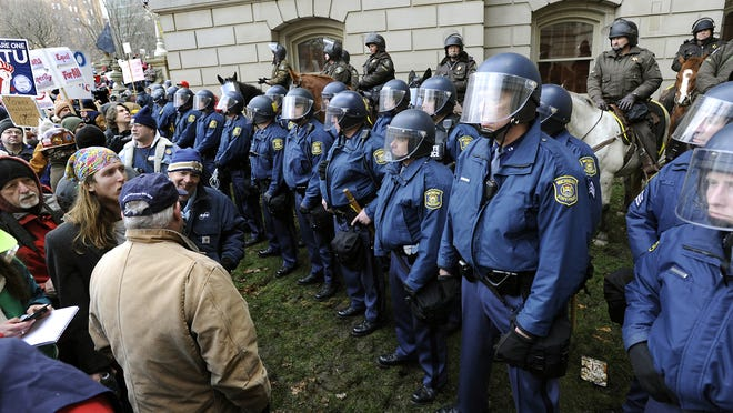 Police say they're ready for Sunday. Look back at previous large protests in the capital city.