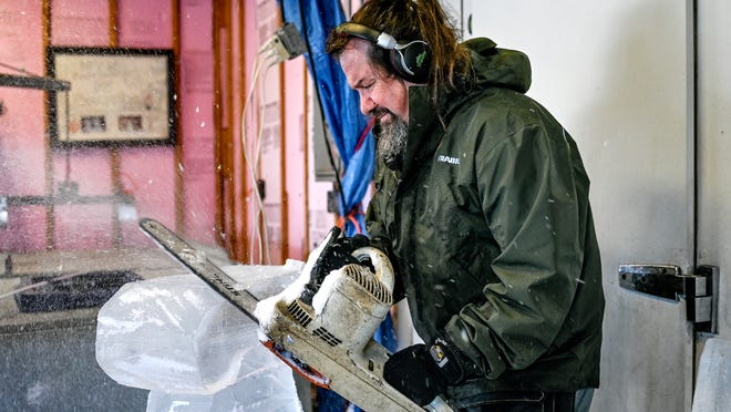 Ice sculptor carves out his own business with custom pieces for special events like Lansing Winterfest