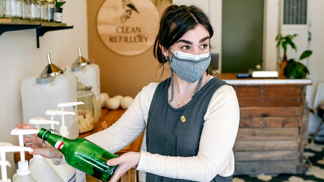 Photos of Lansing's Clean Refillery, an eco-conscious store in REO Town