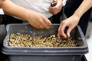 Ammunition shelves bare as US gun sales continue to soar
