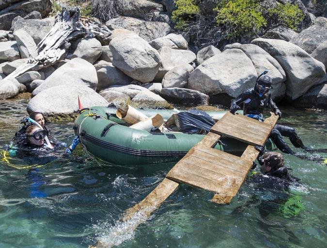 Trash is the trophy for Lake Tahoe divers