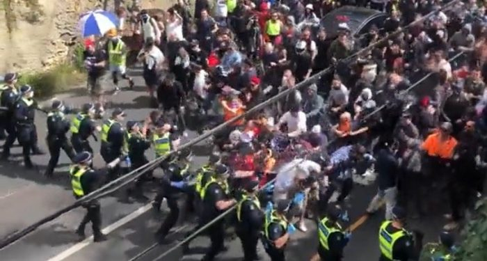 270 Anti-Lockdown Protesters in Melbourne and Sydney Arrested After Violent Clash with Police
