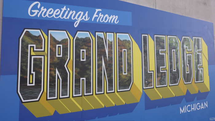 Grand Ledge just got brighter with the completion of a new mural