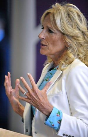 First lady Jill Biden visits Saginaw Chippewa center to discuss youth mental health