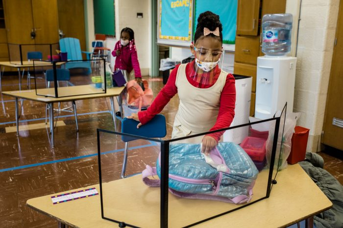 Plastic Dividers and Masks All Day: What Teaching in a Pandemic Looks Like