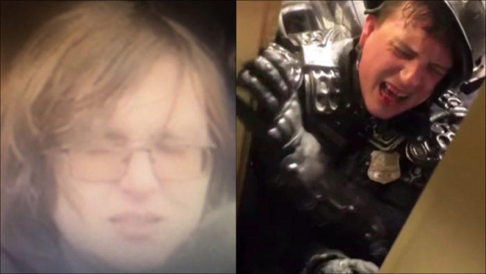 DC police seek man suspected of crushing officer in doorway