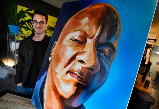 Artist's portraits raise money for local homeless people
