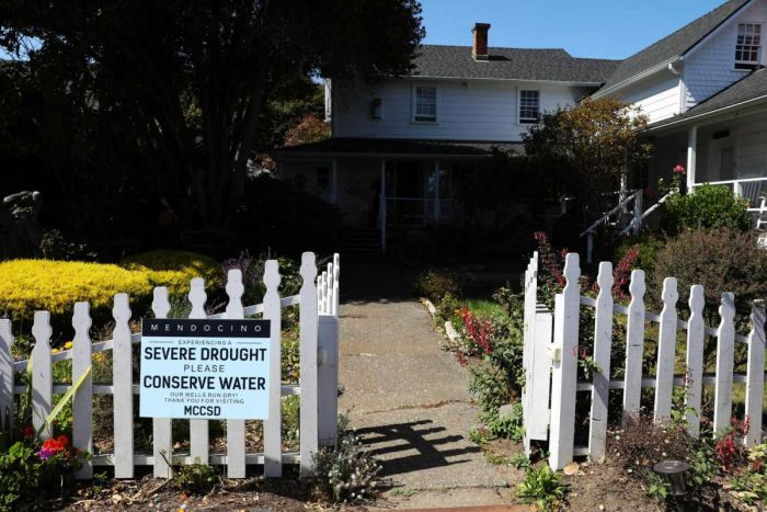 Mendocino is running out of water. The solution might involve a very old train