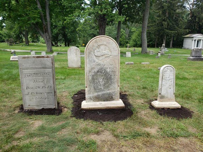 Headstone used to make fudge restored to Michigan gravesite after 146 years