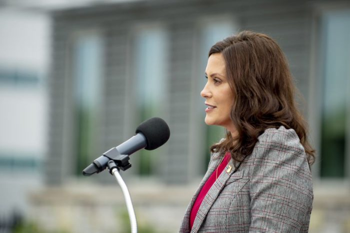 Whitmer proposes $32M for police retention; lawmaker calls it watered-down GOP plan