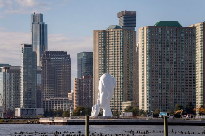The Meaning Behind the New Statue Towering Over New York's Hudson River