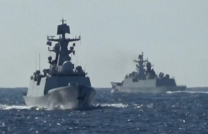 For the First Time Ever, Chinese and Russian Warships Get Together for Joint Patrol in the Western Pacific